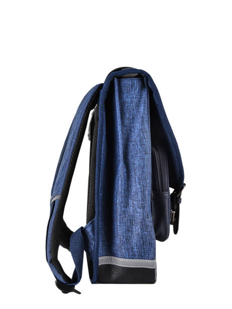 Backpack 2 Compartments Cameleon Blue vintage color VIC-SD38 other view 4