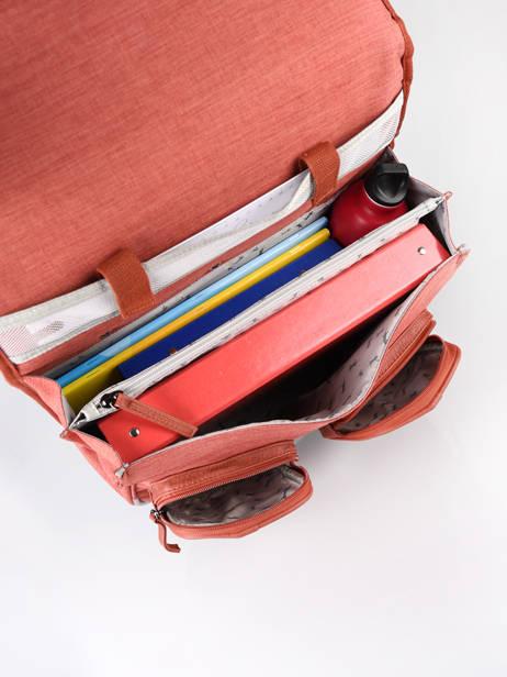 Boekentas Op Wieltjes 3 Compartimenten Cameleon Rood vintage color CR38 ander zicht 5