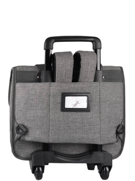 Wheeled Schoolbag 3 Compartments Cameleon Gray vintage color CR38 other view 7