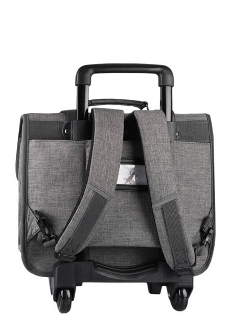 Wheeled Schoolbag 3 Compartments Cameleon Gray vintage color CR38 other view 8