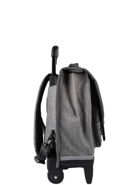 Wheeled Schoolbag 3 Compartments Cameleon Gray vintage color CR38 other view 4