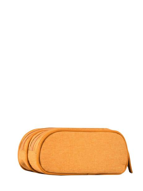 Pennenzak 2 Compartimenten Cameleon Geel vintage color - VIC-TROU ander zicht 2