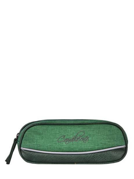Trousse 2 Compartiments Cameleon Vert vintage color - VIC-TROU