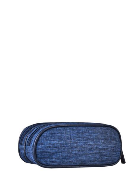 Pennenzak 2 Compartimenten Cameleon Blauw vintage color - VIC-TROU ander zicht 2