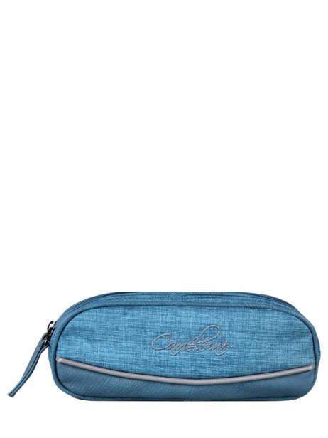 Pennenzak 2 Compartimenten Cameleon Blauw vintage color - VIC-TROU