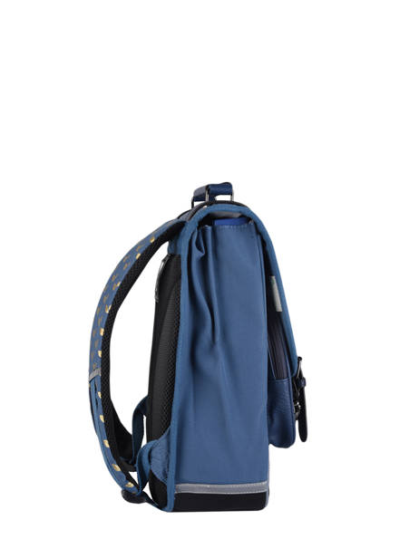 Backpack For Girls 2 Compartments Cameleon Blue vintage fantasy SD38 other view 4