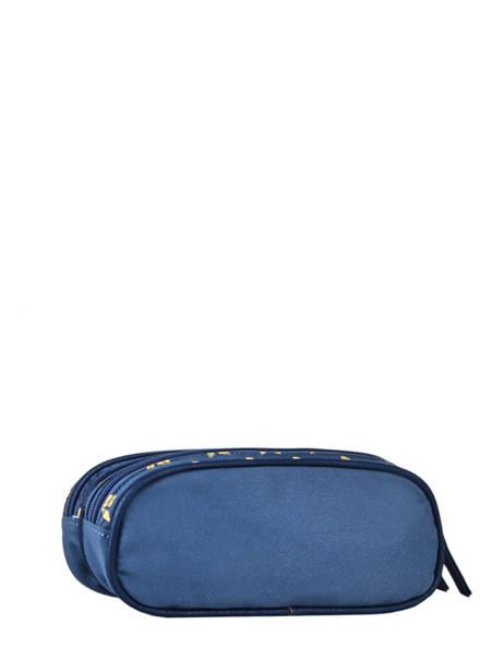 Trousse Enfant 2 Compartiments Cameleon Bleu vintage fantasy TROU vue secondaire 2