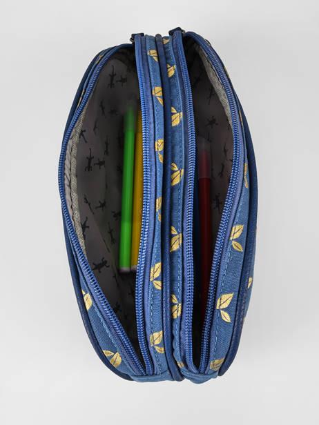 Trousse Enfant 2 Compartiments Cameleon Bleu vintage fantasy TROU vue secondaire 1