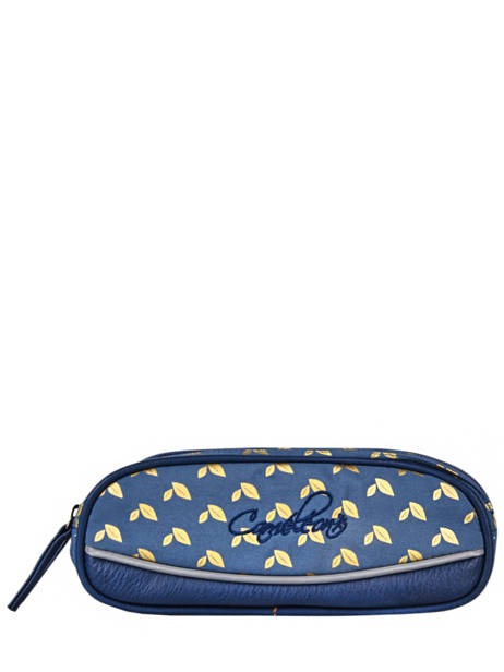 Pencil Case For Girls 2 Compartments Cameleon Blue vintage fantasy TROU
