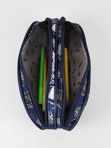 Pencil Case For Boy 2 Compartments Cameleon Blue vintage urban VIB-TROU other view 1