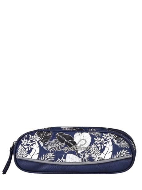 Pencil Case For Boy 2 Compartments Cameleon Blue vintage urban VIB-TROU