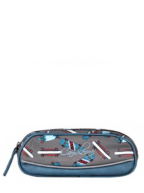 Pencil Case For Boy 2 Compartments Cameleon Gray vintage urban VIB-TROU