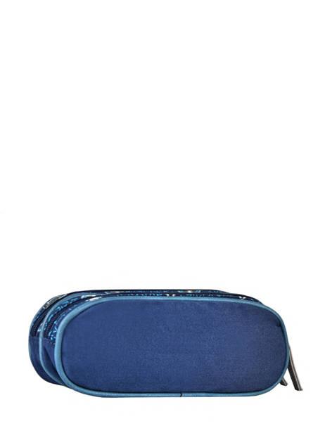 Pencil Case For Boy 2 Compartments Cameleon Blue vintage urban VIB-TROU other view 2