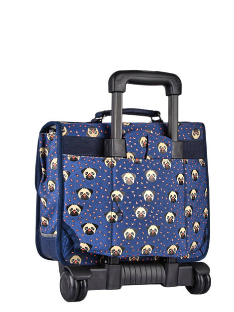 Wheeled Backpack Rétro Cameleon Blue retro CR35 other view 6
