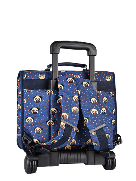 Wheeled Backpack Rétro Cameleon Blue retro CR35 other view 7