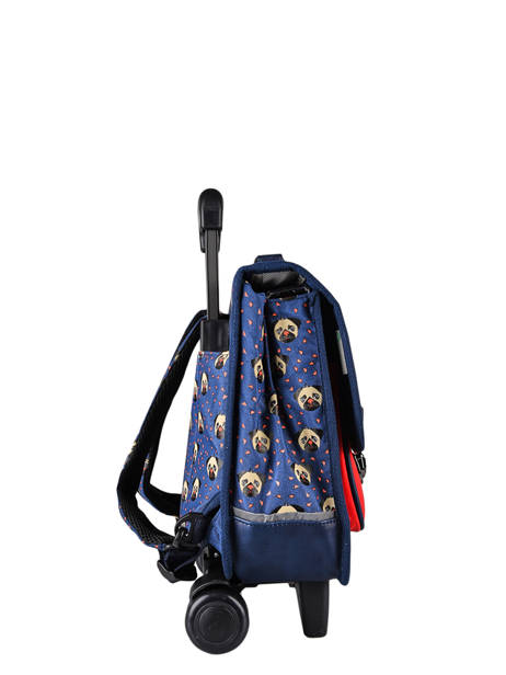 Wheeled Backpack Rétro Cameleon Blue retro CR35 other view 4