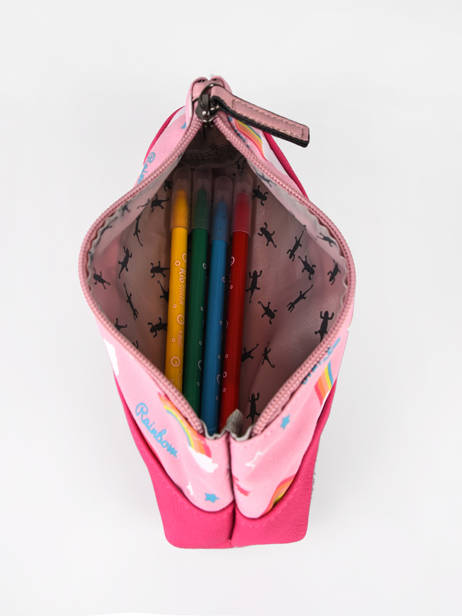 Pencil Case For Kids 1 Compartment Cameleon Pink retro TROU other view 1