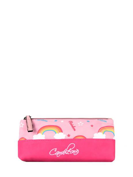 Pencil Case For Kids 1 Compartment Cameleon Pink retro TROU