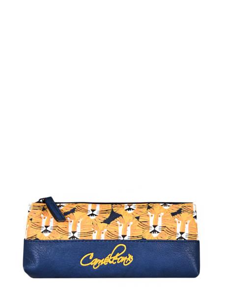 Pencil Case For Kids 1 Compartment Cameleon Yellow retro TROU