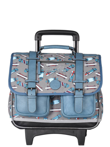 Wheeled Schoolbag For Boys 2 Compartments Cameleon Gray vintage urban CR38
