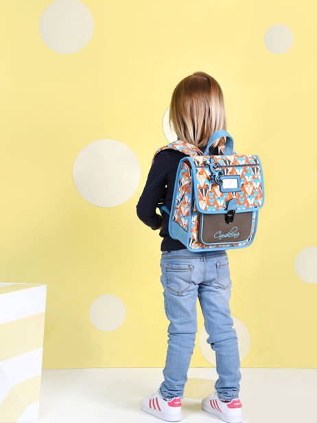 Backpack 1 Compartment Cameleon Multicolor retro SD30 other view 4