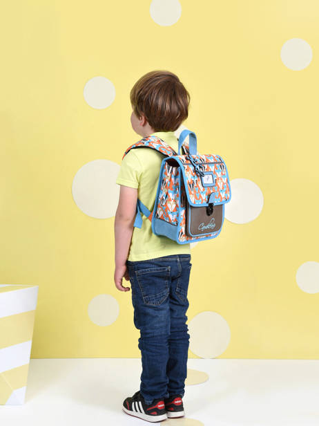 Backpack 1 Compartment Cameleon Multicolor retro SD30 other view 3