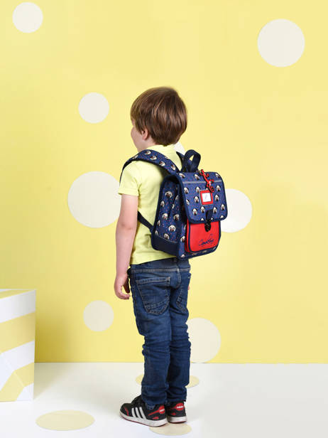 Backpack 1 Compartment Cameleon Blue retro SD30 other view 3
