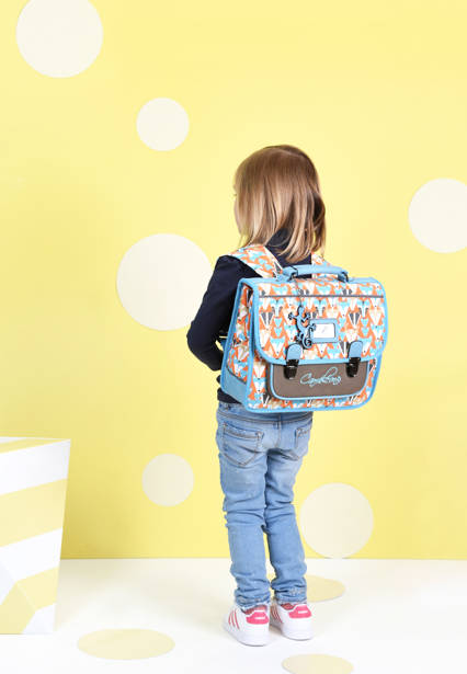 Satchel For Kids 1 Compartment Cameleon Multicolor retro CA32 other view 1