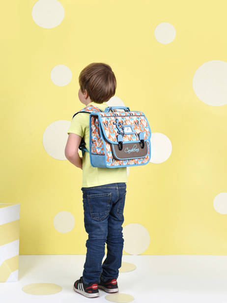 Satchel For Kids 1 Compartment Cameleon Multicolor retro CA32 other view 2