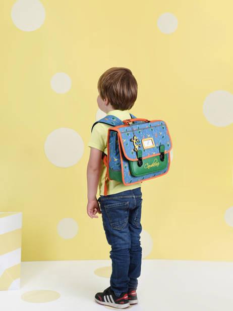 Cartable Enfant 1 Compartiment Cameleon Bleu retro CA32 vue secondaire 1