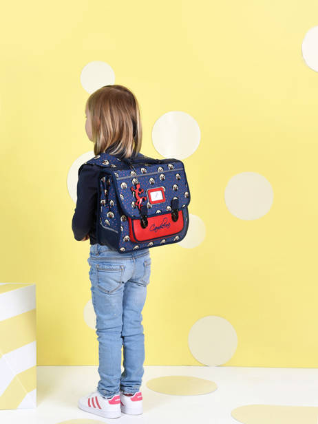 Satchel For Kids 1 Compartment Cameleon Blue retro CA32 other view 3