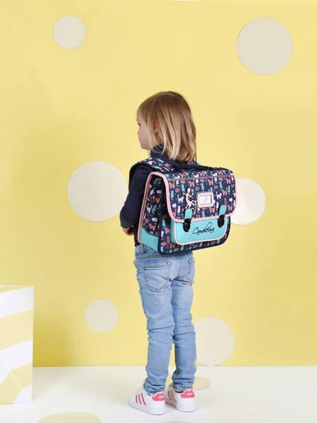 Cartable Enfant 1 Compartiment Cameleon Multicolore retro CA32 vue secondaire 1