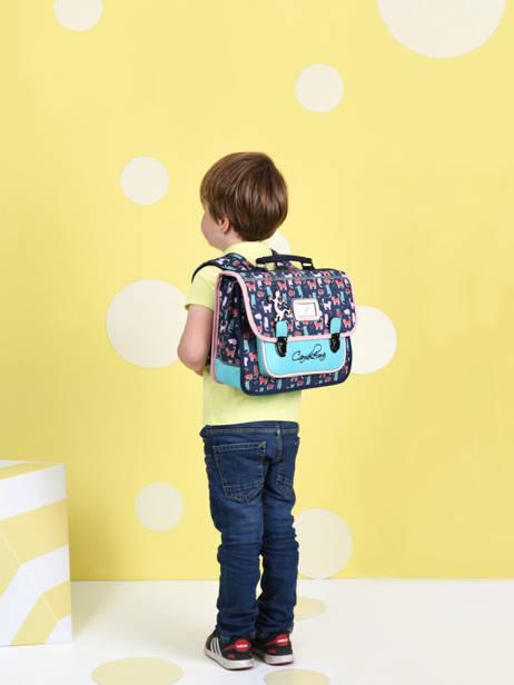 Cartable Enfant 1 Compartiment Cameleon Multicolore retro CA32 vue secondaire 2