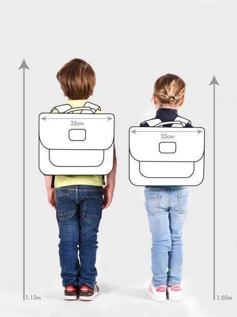 Satchel For Kids 1 Compartment Cameleon Blue retro CA32 other view 4