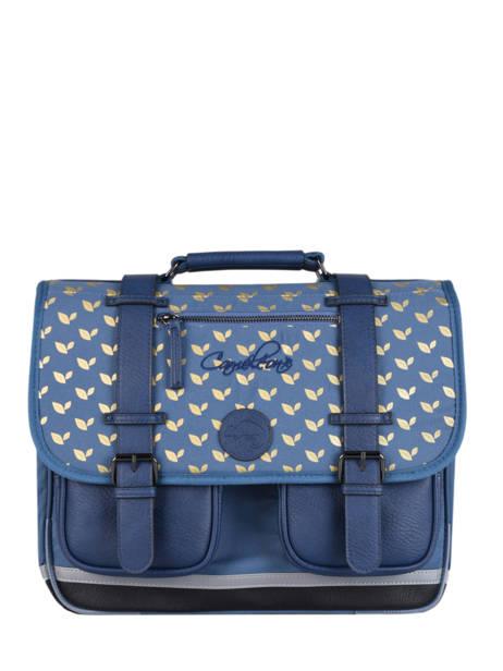 Satchel For Girls 2 Compartments Cameleon Blue vintage fantasy CA35