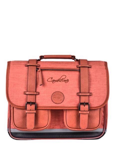 Cartable 2 Compartiments Cameleon Rouge vintage color CA38
