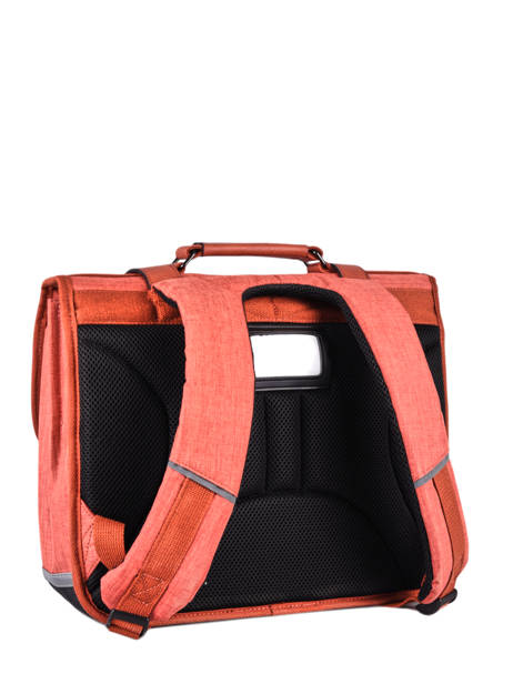Satchel 2 Compartments Cameleon Red vintage color - VIC-CA35 other view 7