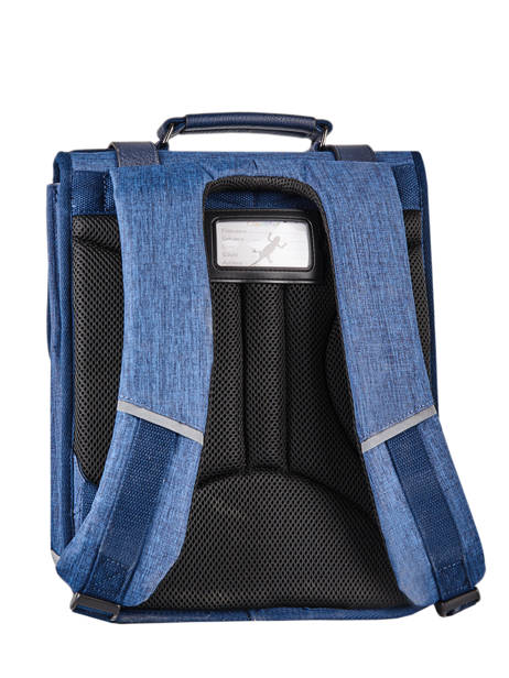 Backpack 2 Compartments Cameleon Blue vintage color VIC-SD38 other view 7
