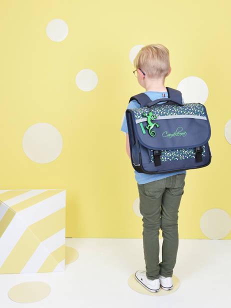Cartable Enfant 2 Compartiments Cameleon Bleu actual BAS-CA35 vue secondaire 1