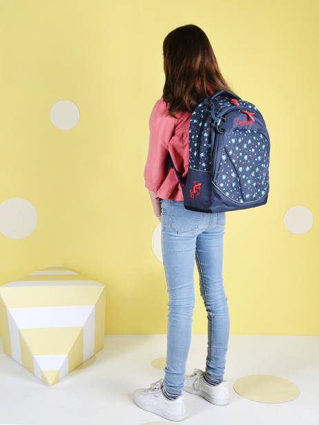 Backpack For Kids 2 Compartments Cameleon Blue actual SD43 other view 2