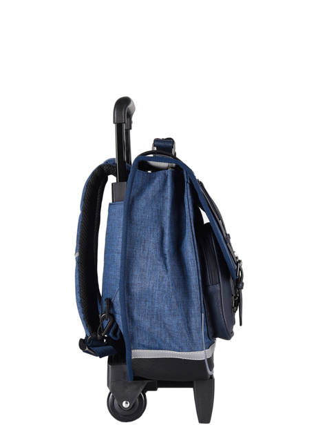 Wheeled Schoolbag 3 Compartments Cameleon Blue vintage color CR38 other view 4