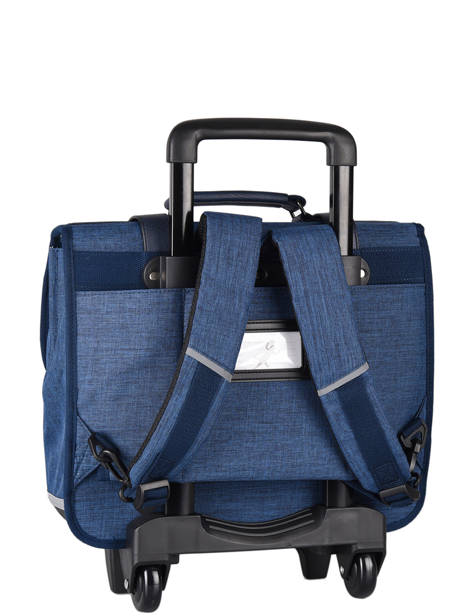 Wheeled Schoolbag 3 Compartments Cameleon Blue vintage color CR38 other view 8