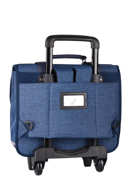 Wheeled Schoolbag 3 Compartments Cameleon Blue vintage color CR38 other view 7