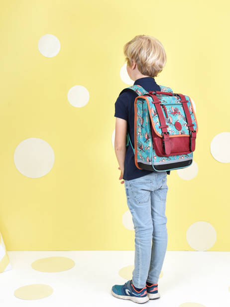 Backpack For Girls 2 Compartments Cameleon Green vintage fantasy SD38 other view 2