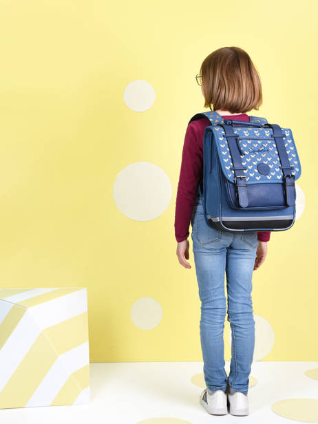 Backpack For Girls 2 Compartments Cameleon Blue vintage fantasy SD38 other view 1