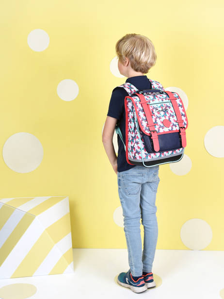 Backpack For Girls 2 Compartments Cameleon Multicolor vintage fantasy SD38 other view 2