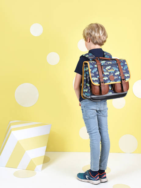Satchel For Boys 2 Compartments Cameleon Multicolor vintage urban CA38 other view 2